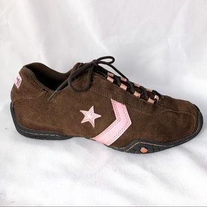 Converse- retro pink and brown sneakers with star